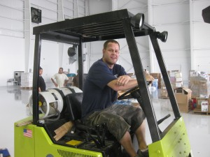 Dave and his forklift